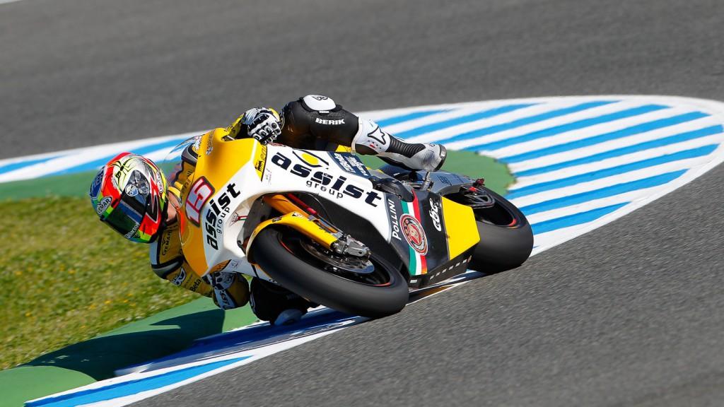 Alex De Angelis, JIR Moto2, Jerez FP1