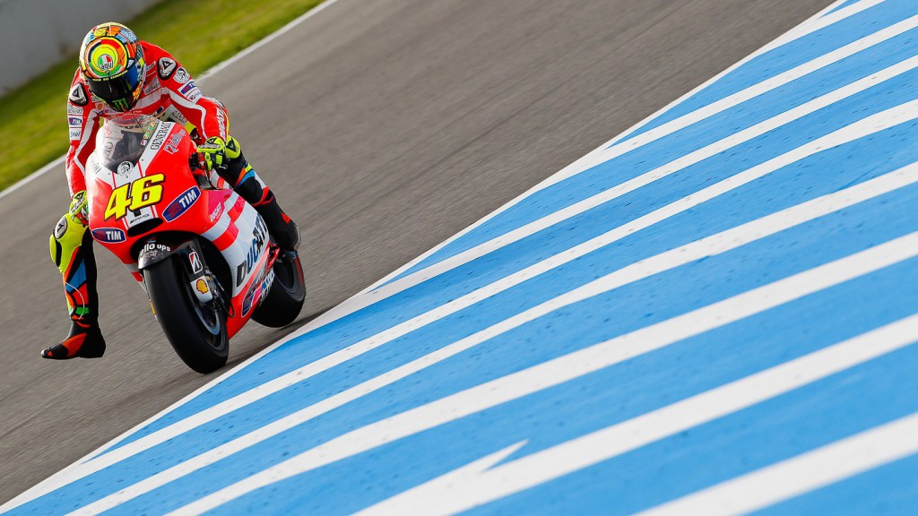 Valentino Rossi, Ducati Team, Jerez QP - Courtesy of Minarelli