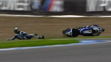 Jerez 2011 - MotoGP - Race - Action - Ben Spies - Crash