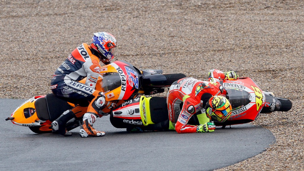 Stoner, Rossi, Jerez Race - by Juan Carlos Toro del Rio