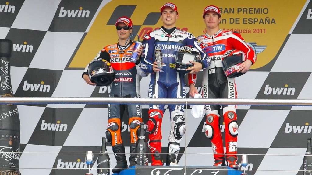 Pedrosa, Lorenzo, Hayden, Jerez Race