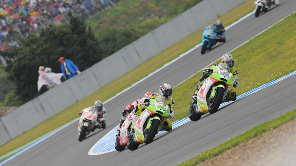 Capirossi, De Puniet, Pramac Racing, Jerez Race