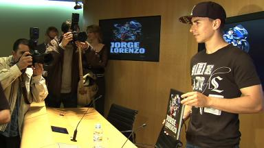 Jorge Lorenzo presents his new book in Barcelona