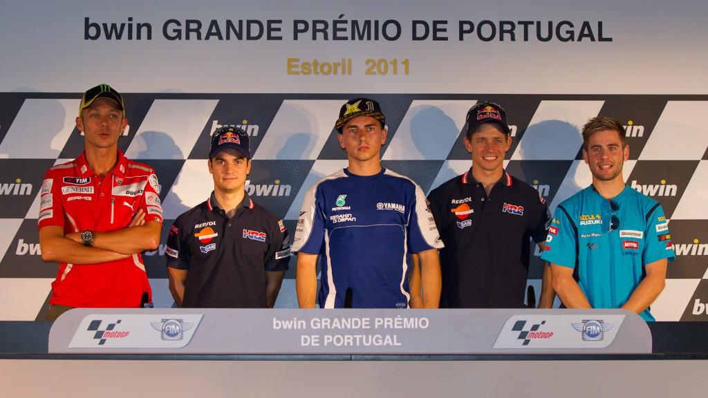 Rossi, Pedrosa, Lorenzo, Stoner, Bautista, Estoril