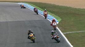 Stefan Bradl (Viessmann Kiefer Racing) will start the bwin Grande Prémio de Portugal from the front row after securing pole position. The German rider bettered Thomas Lüthi (Interwetten Paddock Moto2) in the final moments to snatch the top spot. Julián Simón (Mapfre Aspar) will join Bradl and Luthi on the front row.