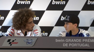 Marco Simoncelli, Jorge Lorenzo, San Carlo Honda Gresini, Yamaha Factory Racing, Estoril QP