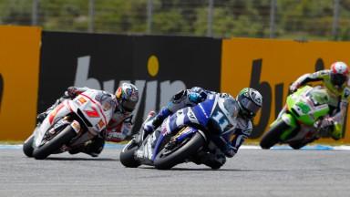 Ben Spies, Hiroshi Aoyama, Yamaha Factory Racing, San Carlo Honda Gresini, Estoril Race