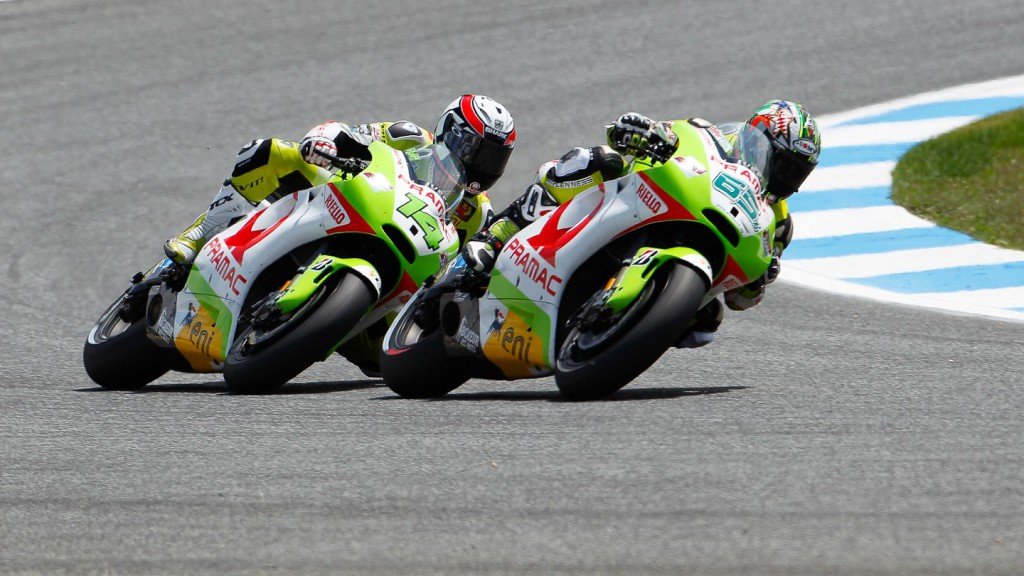Randy de Puniet, Loris Capirossi, Pramac Racing Team, Estoril RAC