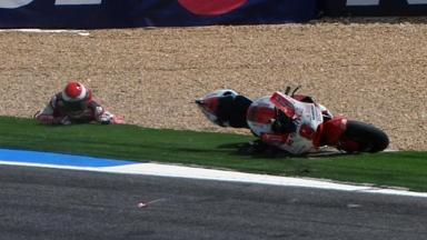 Estoril 2011 - MotoGP - Race - Hector Barbera - Crash