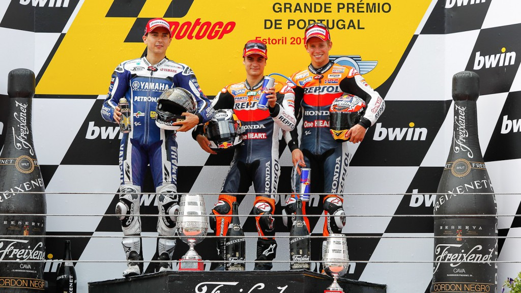 Lorenzo, Pedrosa, Stoner, Yamaha Factory Racing, Repsol Honda Team, Estoril RAC