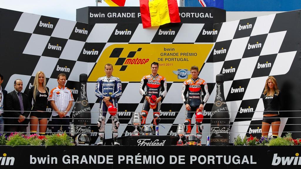 Lorenzo, Pedrosa, Stoner, Yamaha Factory Racing, Repsol Honda Team, Estoril RAC