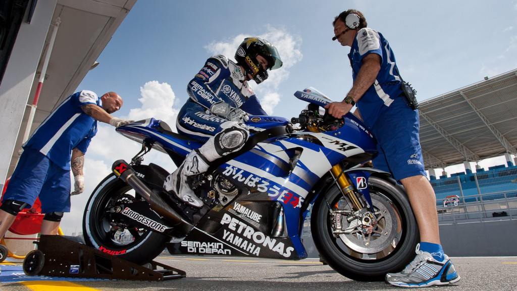 Jorge Lorenzo, Yamaha Factory Racing, Estoril Test