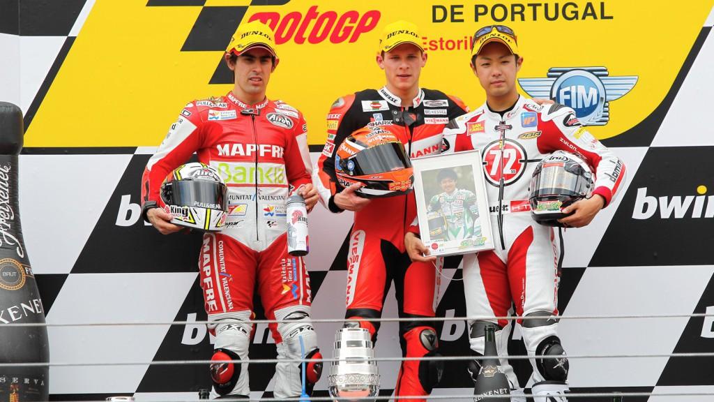 Julian Simon, Stefan Bradl, Yuki Takahashi, Mapfre Aspar Team Moto2, Viessmann KieferGresini Racing Moto2, Estoril RAC