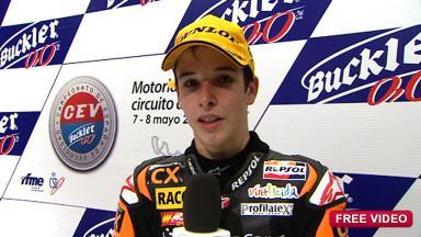 2011 - CEV Buckler - Round 2 - Aragon - Interview - 125cc - Alex Márquez