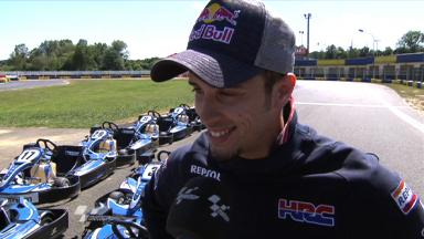 Dovizioso enjoys kart outing