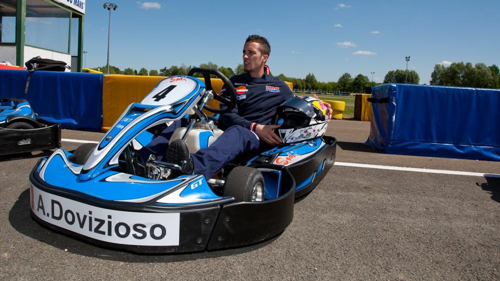 Andrea Dovizioso, Repsol Honda, Le Mans Karts race