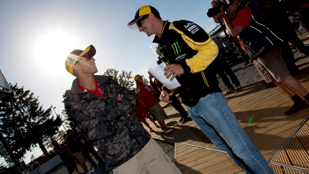 Valentino Rossi, Colin Edwards, Ducati Team, Monster Yamaha Tech 3, Monster Energy Preevent, Le Mans