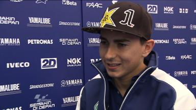 Lorenzo reviews tough QP session