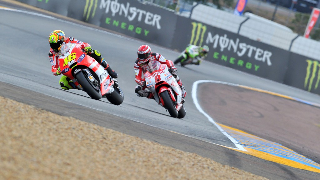 Valentino Rossi, Hector Barbera, Ducati Team, Mapfre Aspar Team, Le Mans QP