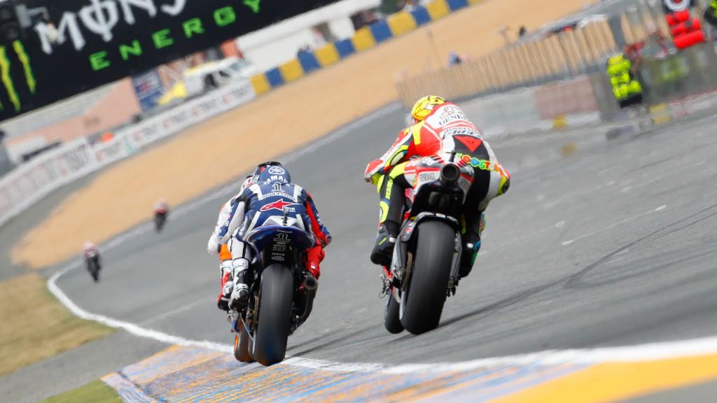 Jorge Lorenzo, Valentino Rossi, Yamaha Factory Racing, Ducati Team, Le Mans RAC
