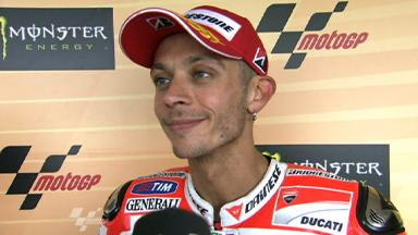 Rossi thrilled with first Ducati podium