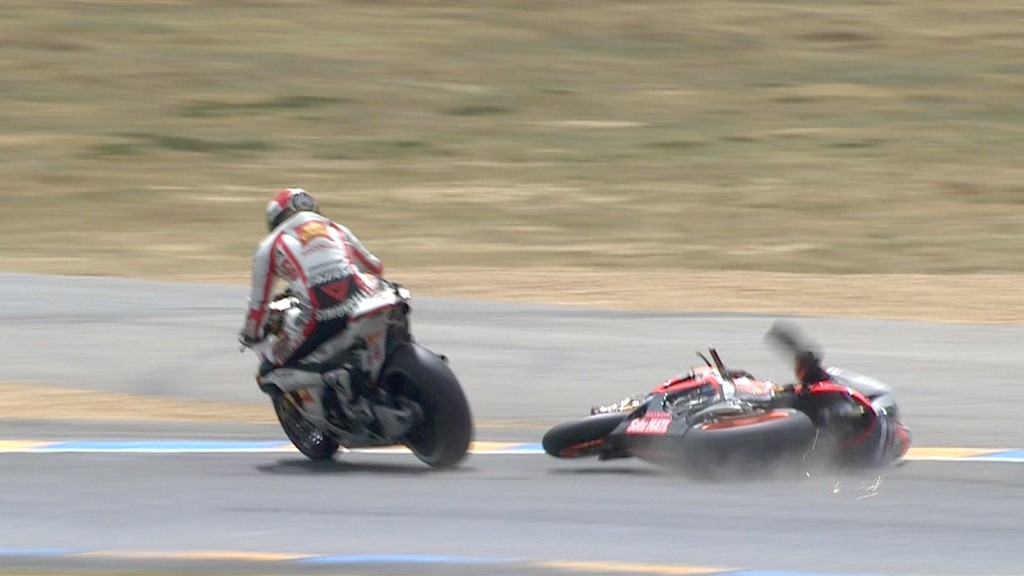Dani Pedrosa, Marco Simoncelli, Repsol Honda Team, San Carlo Honda Gresini, Le Mans RAC