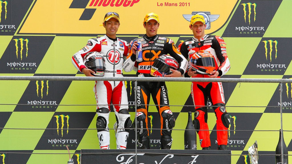 Yuki Takahashi, Marc Marquez, Stefan Bradl, Gresini Racing Moto2, Team CatalunyaCaixa Repsol, Veissmann Kiefer Racing, Le Mans R