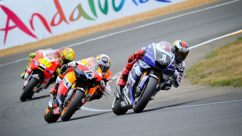 Jorge Lorenzo, Andrea Dovizioso, Yamaha Factory Racing, Repsol Honda Team, Le Mans RAC