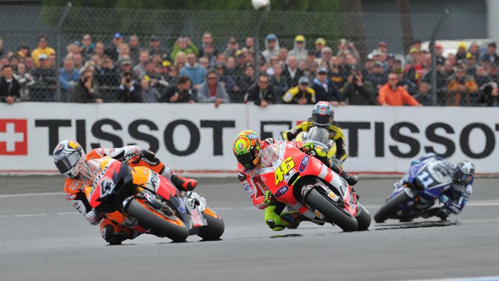 Andrea Dovizioso, Valentino Rossi, Repsol Honda Team, Ducati Team, Le Mans RAC