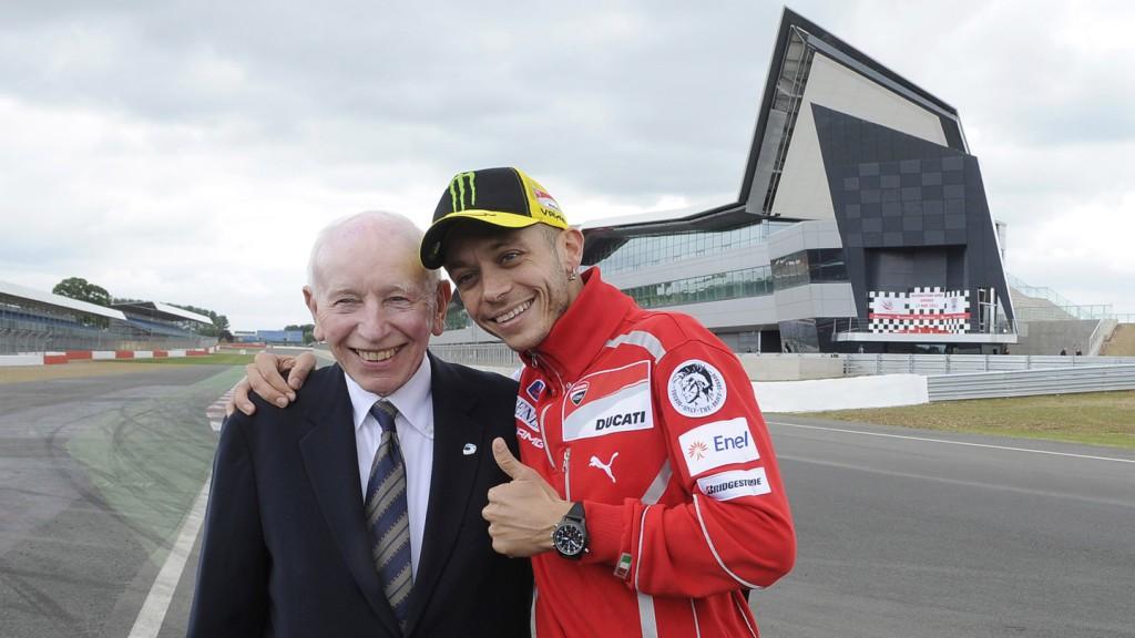 John Surtees OBE, Valentino Rossi, Silverstone Circuit