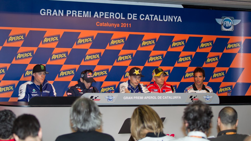 Spies, Stoner, Lorenzo, Rossi, Elias, Yamaha Factory Racing, Repsol Honda Team, Ducati Team, LCR Honda MotoGP, Catalunya