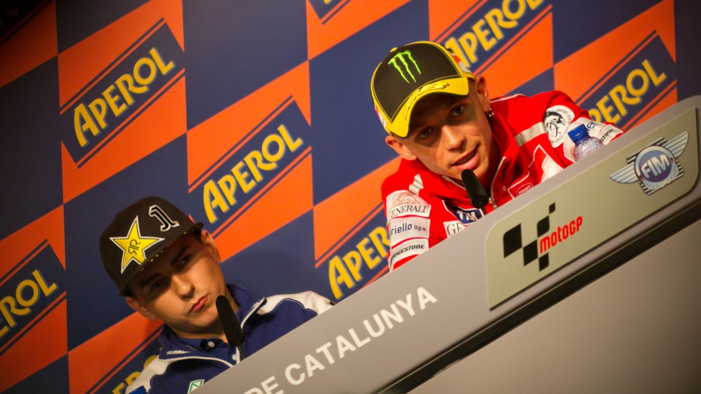 Lorenzo, Rossi, Yamaha Factory Racing, Ducati Team, Catalunya