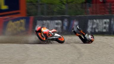 2011 - Catalunya - Moto2 - FP1 - Action - Marc Márquez - Crash