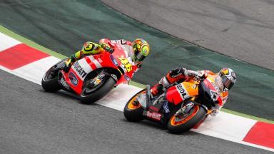 Andrea Dovizioso, Valentino Rossi, Repsol Honda, Ducati Team, Catalunya Circuit RAC