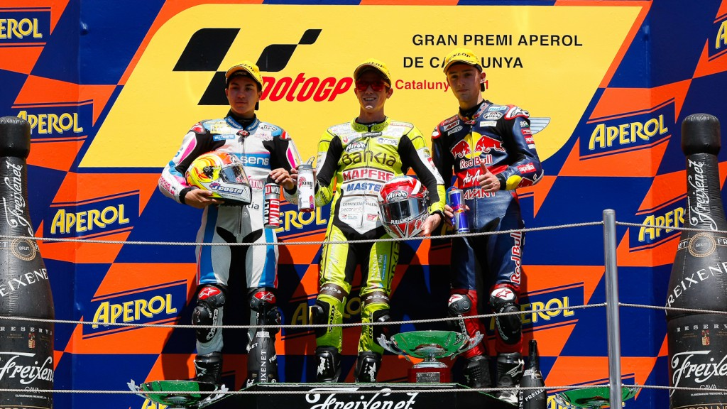 Viñales, Terol, Folger, Blusens by Paris Hilton Racing, Bankia Aspar Team, Red Bull Ajo MotorSport, Catalunya Circuit RAC