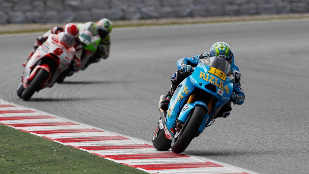 Alvaro Butista, Rizla Suzuki MotoGP, Catalunya Circuit RAC