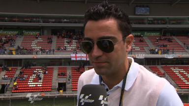 FC Barcelona Xavi Hernández enjoys MotoGP experience