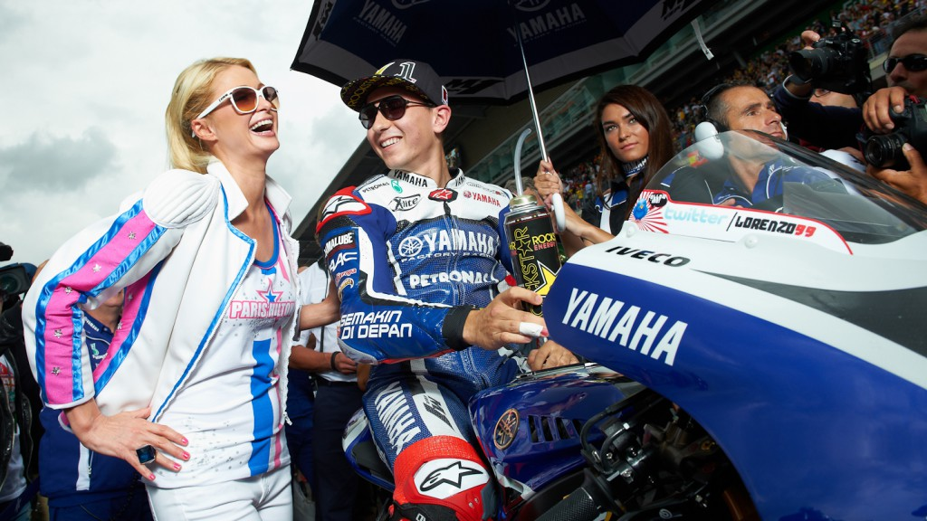 Paris Hilton, Jorge Lorenzo, Catalunya Circuit RAC- © Copyright Alex Chailan & David Piolé