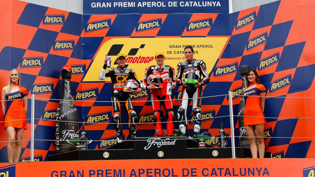 Marquez, Bradl, Espargaro, team CatalunyaCaixa Repsol, Viessmann Kiefer Racing, Pons HP 40, Catalunya Circuit RAC