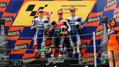 Lorenzo, Stoner, Spies, Yamaha Factory Racing, Repsol Honda TEam, Catalunya Circuit RAC