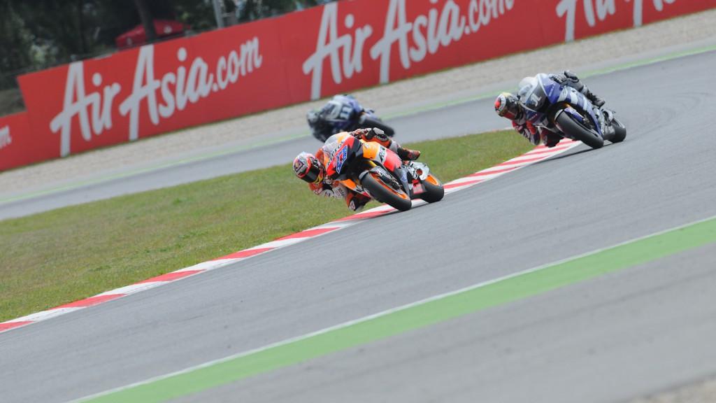 Casey Stoner, Jorge Lorenzo, Repsol Honda Team, Yamaha Factory Racing, Catalunya Circuit RAC