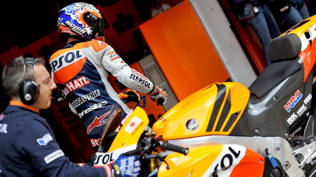 Casey Stoner, Repsol Honda Team, Catalunya Circuit QP