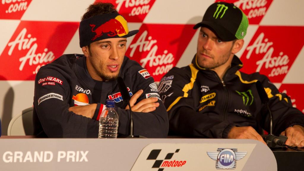 Andrea Dovizioso, Cal Crutchlow, Repsol Honda team, Monster Yamaha Tech 3, AirAsia British Grand Prix