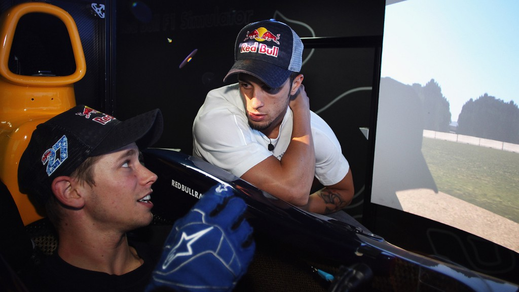 Stoner, Dovizioso, Repsol Honda Team, Red Bull Racing F1 Headquarters