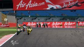 Marc Márquez (Team CatalunyaCaixa Repsol) will start the AirAsia British Grand Prix Moto2 race from pole position, with Scott Redding (Marc VDS Racing) starting second and Championship leader Stefan Bradl (Viessmann Kiefer Racing) starting from third.