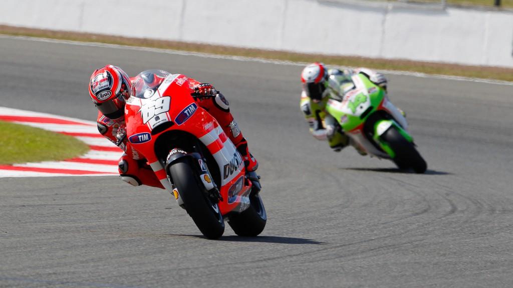 Nicky Hayden, Ducati Team, Silverstone QP