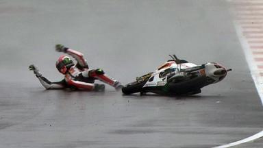 Silverstone 2011 - MotoGP - Race - Action - Marco Simoncelli - Crash