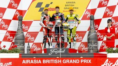Zarco, Folger, Faubel, Avant-AirAsia-Ajo, Red Bull Ajo MotorSport, Bankia Aspar Team 125cc, Silverstone RAC