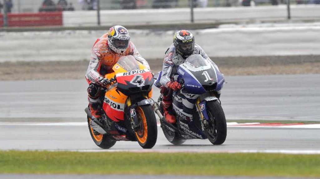 Andrea Dovizioso, Jorge Lorenzo, Repsol Honda, Yamaha Factory Racing, Silverstone RAC