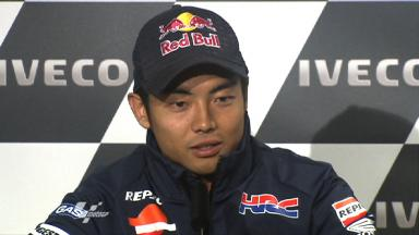 Aoyama thankful for factory ride